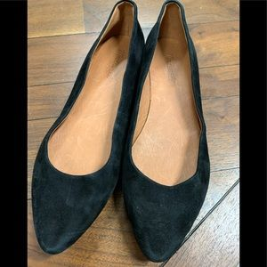 Madewell suede leather black flats 8.5 EUC
